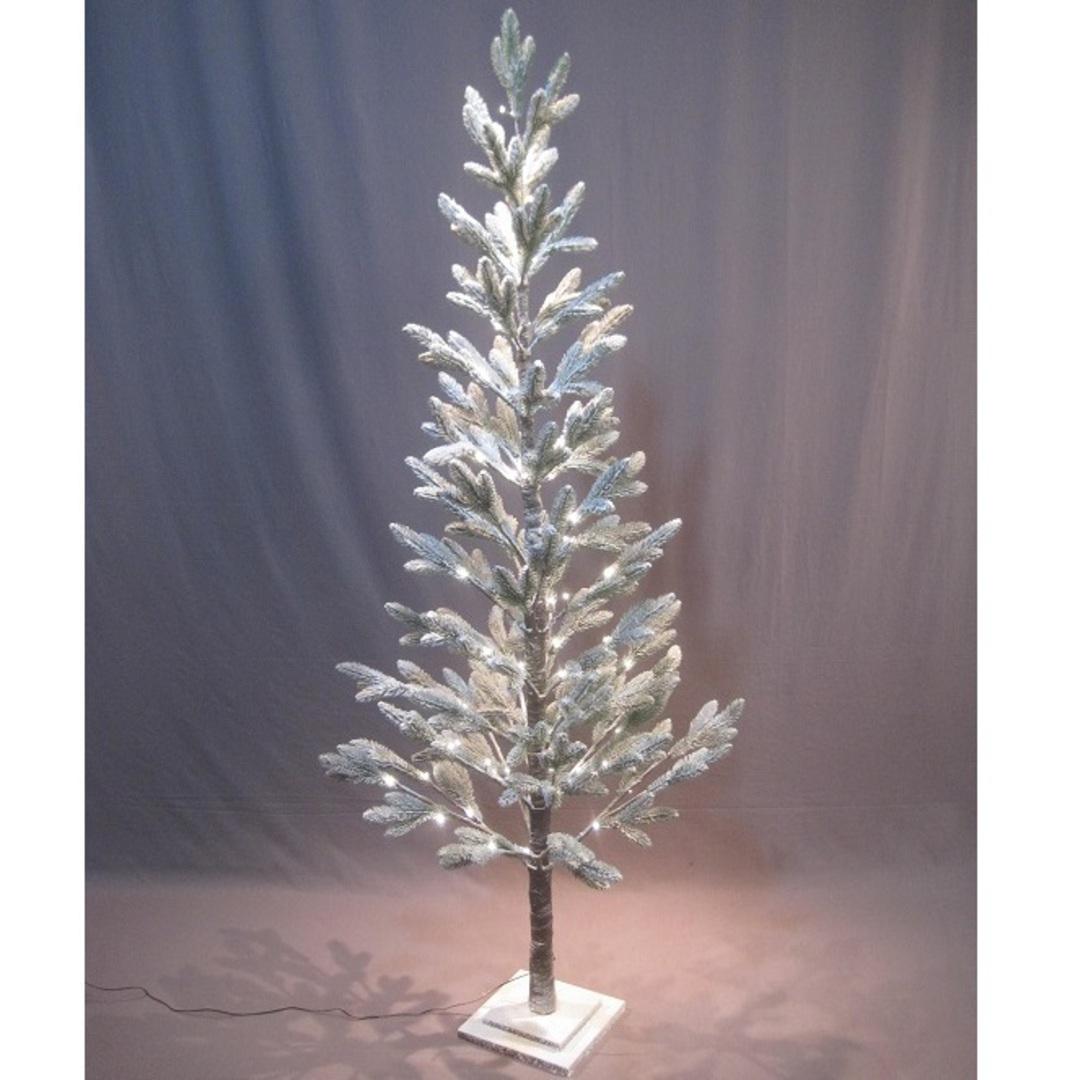 Snowy Pine Tree 1.8mtr, 88 LED Lights image 0