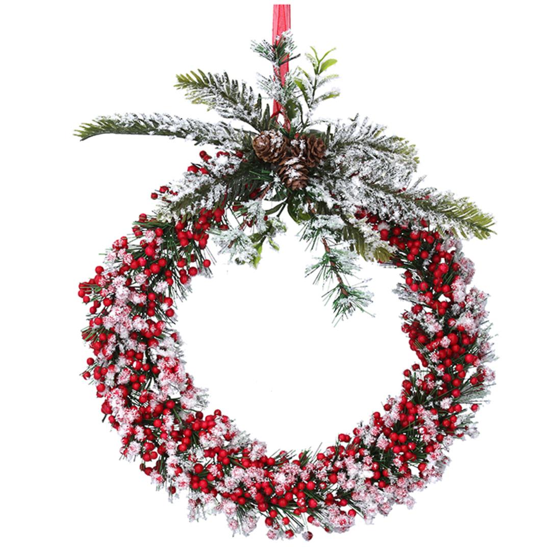 Icey SnowBerry Wreath 33cm image 0