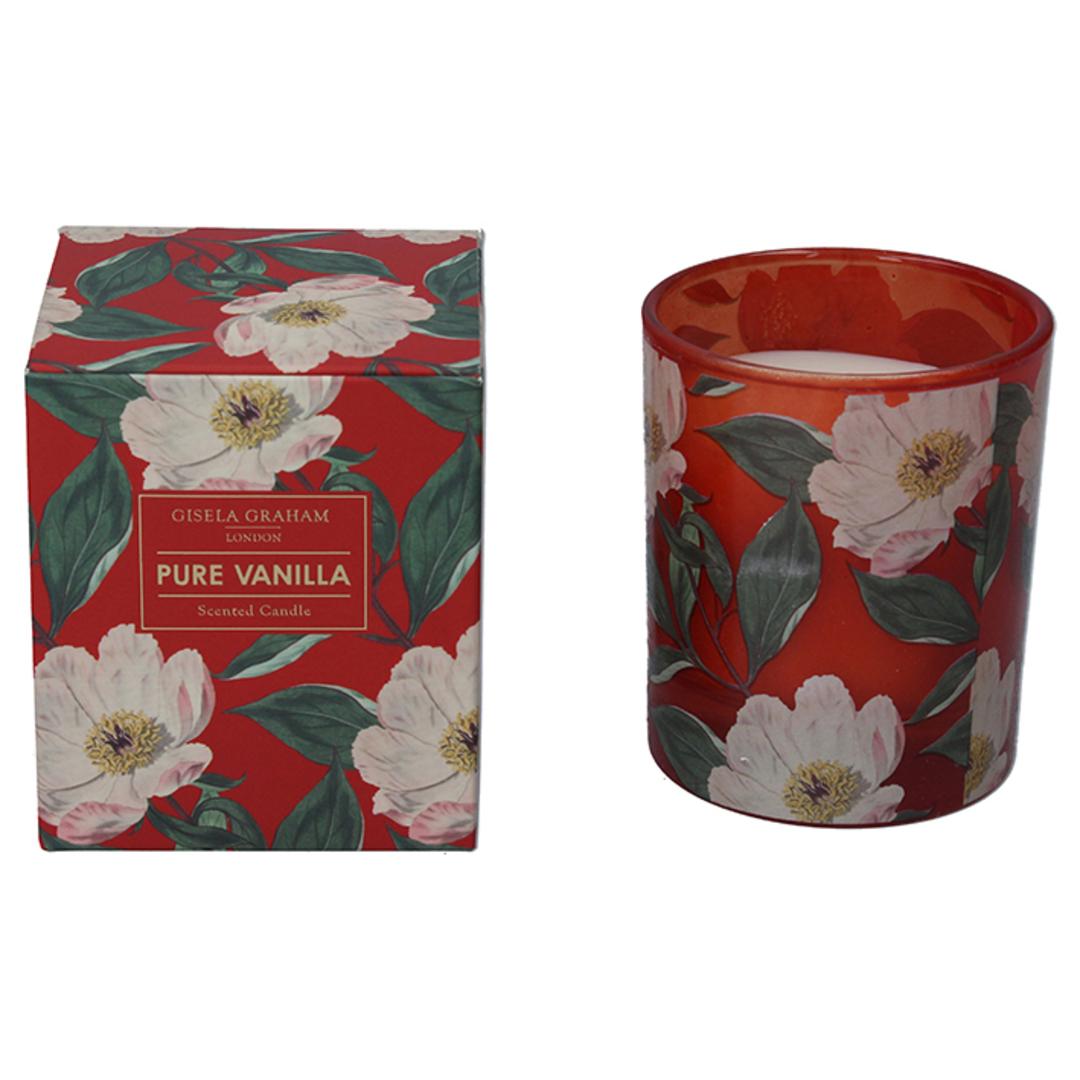 White Xmas Rose, Candle Jar 10cm image 0