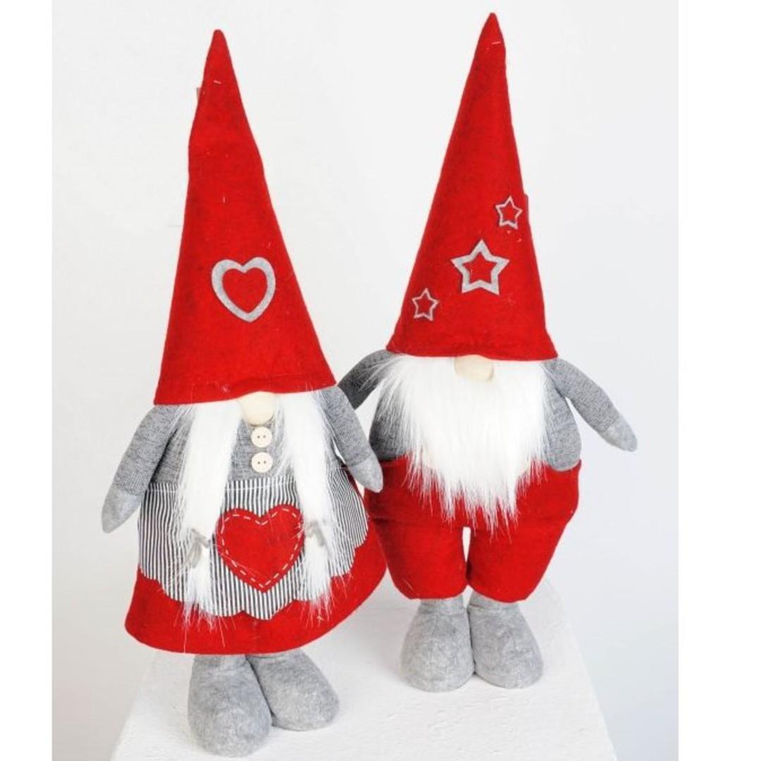 Plush Standing Nordic Mr or Mrs Santa Gnome 30cm image 0