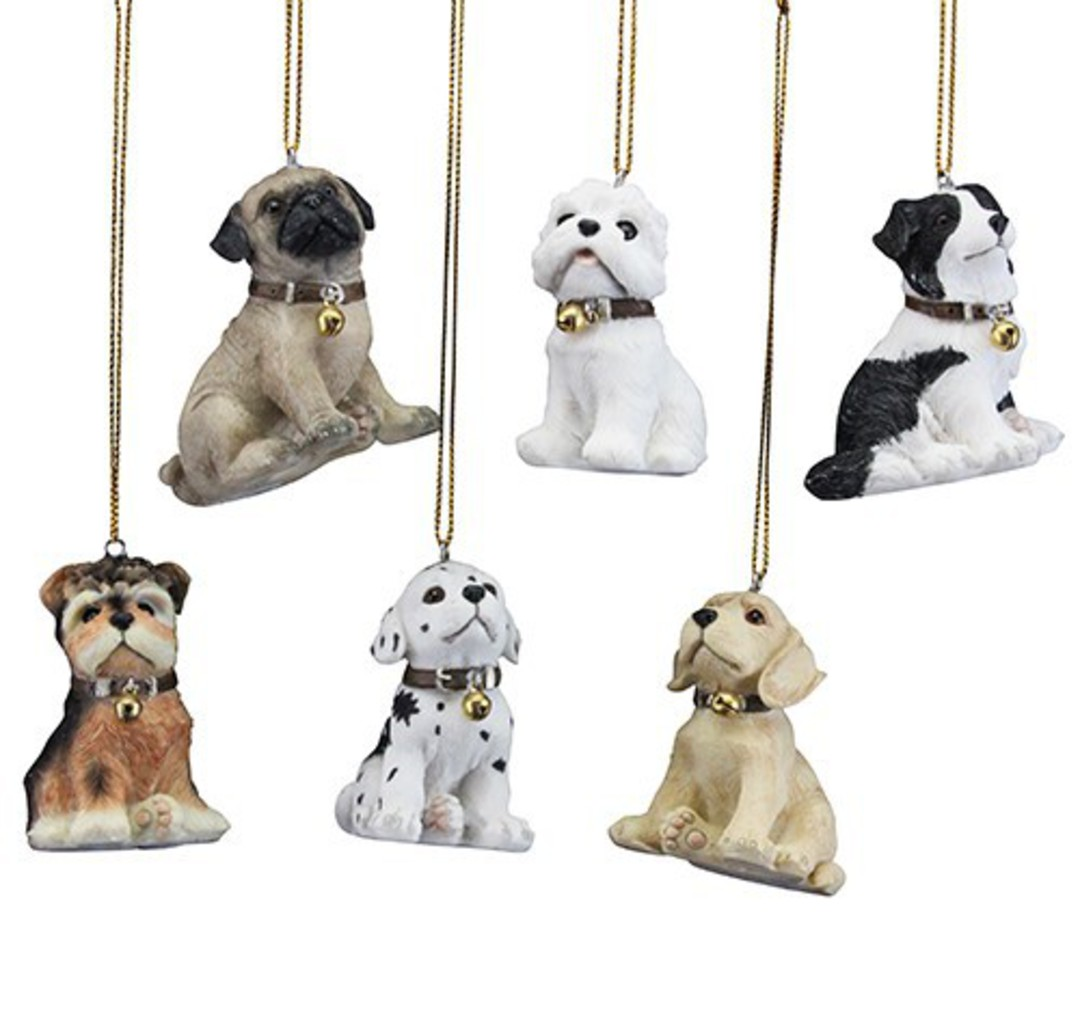 Hanging Resin Puppies 6cm image 0