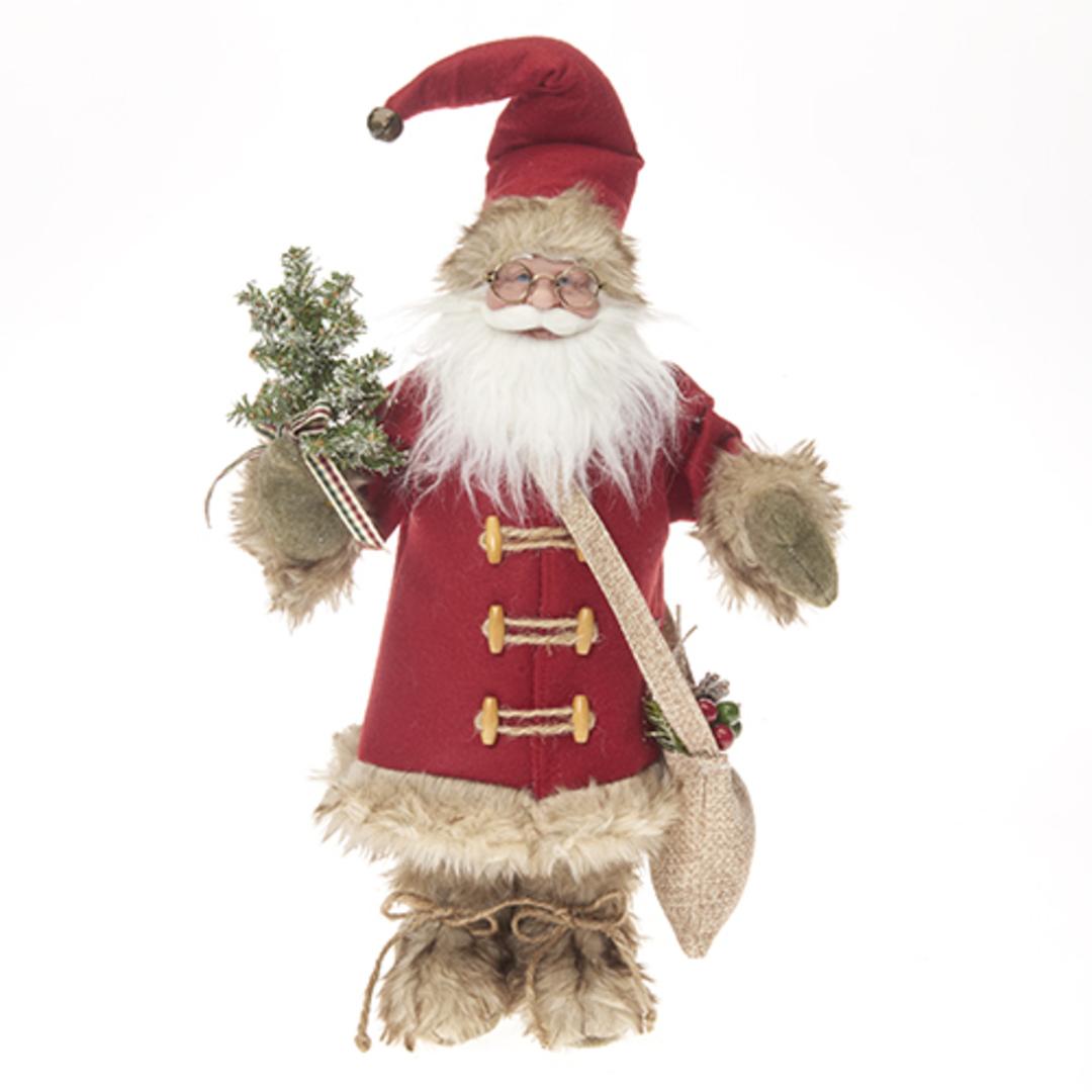 Santa English Red Coat & Tan Fur Trim image 0