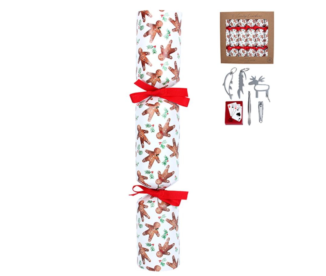 Christmas Crackers Set 6, GingerBread Men image 0