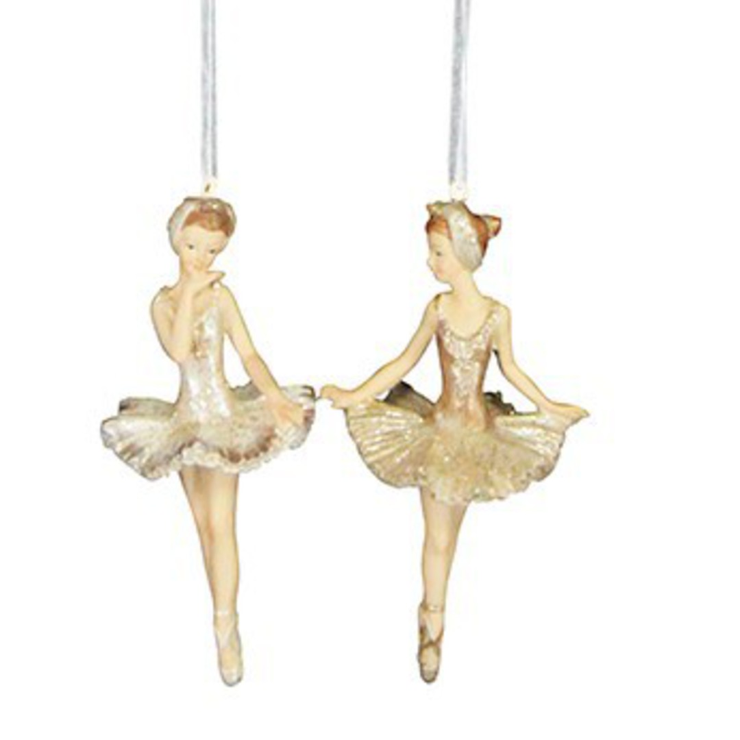 Gold Resin Ballerina 11cm image 0