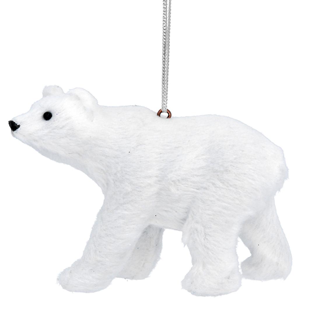 Faux Fur White Polar Bear 10cm image 0