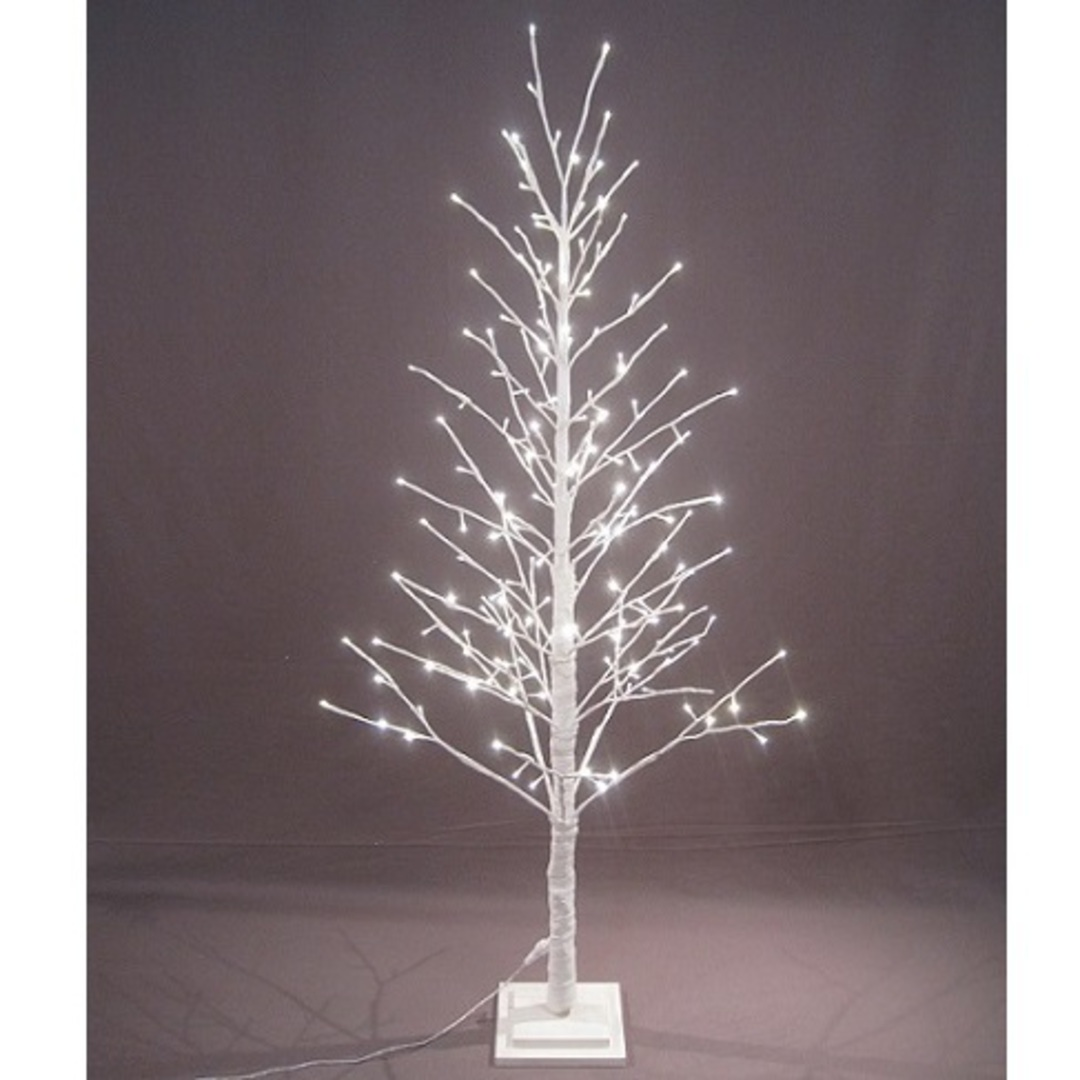 White Twig Tree 1.5 mtr with LED Lights image 0