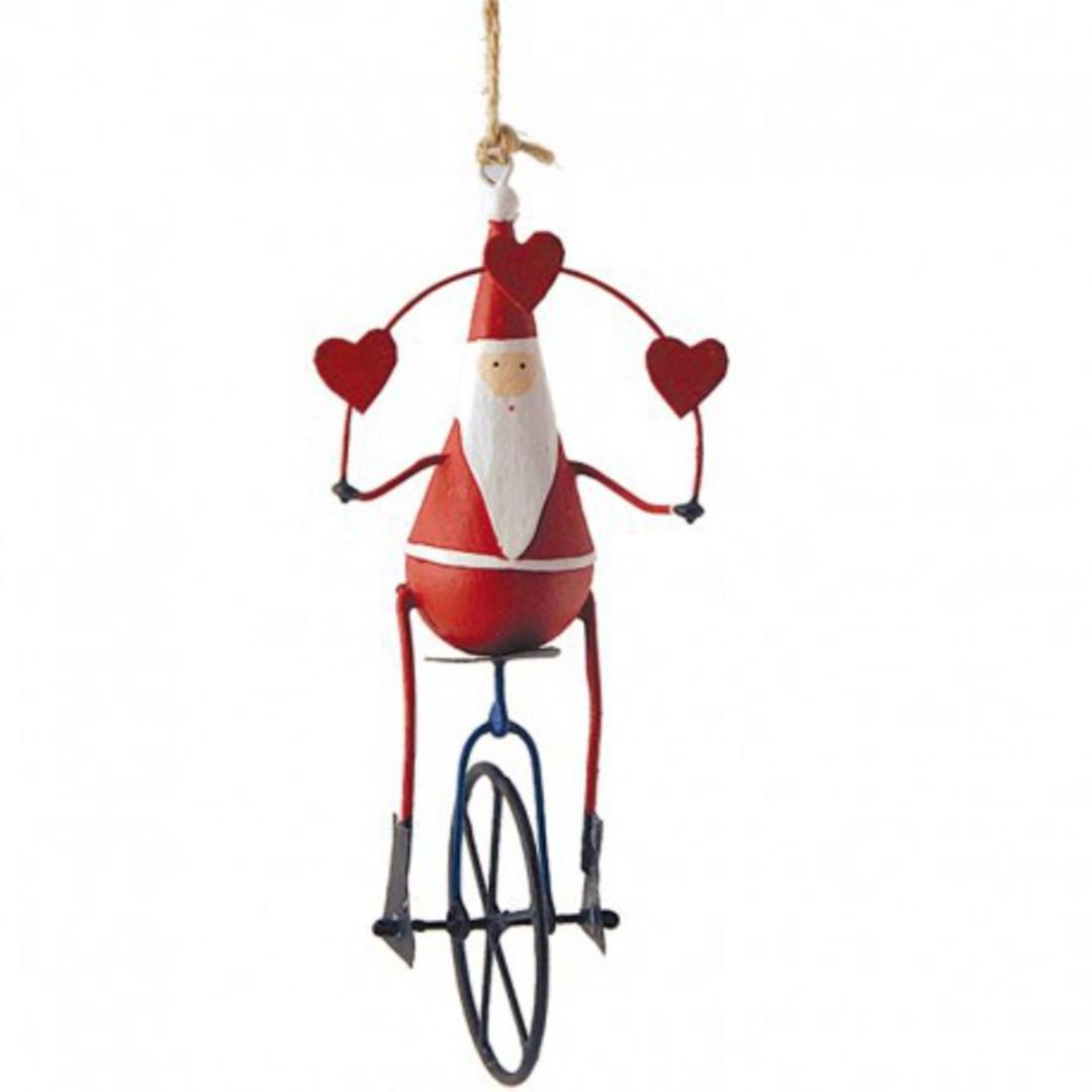 Tin Santa on Unicycle 15cm image 0