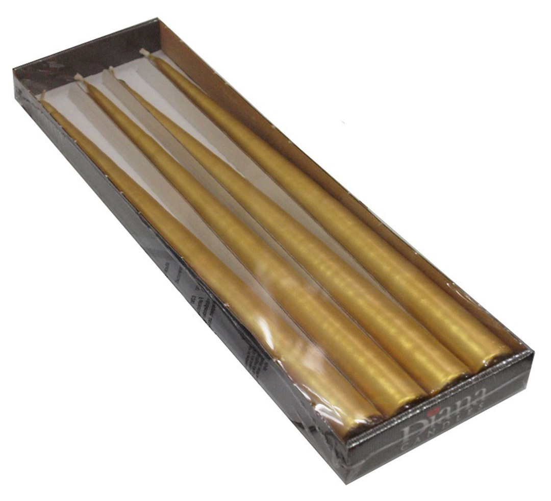 Gold Taper Candle Pack 4 image 0