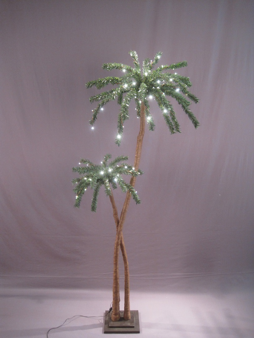 Coconut Palm Tree 1.8mtrs with 96 LED Lights image 0