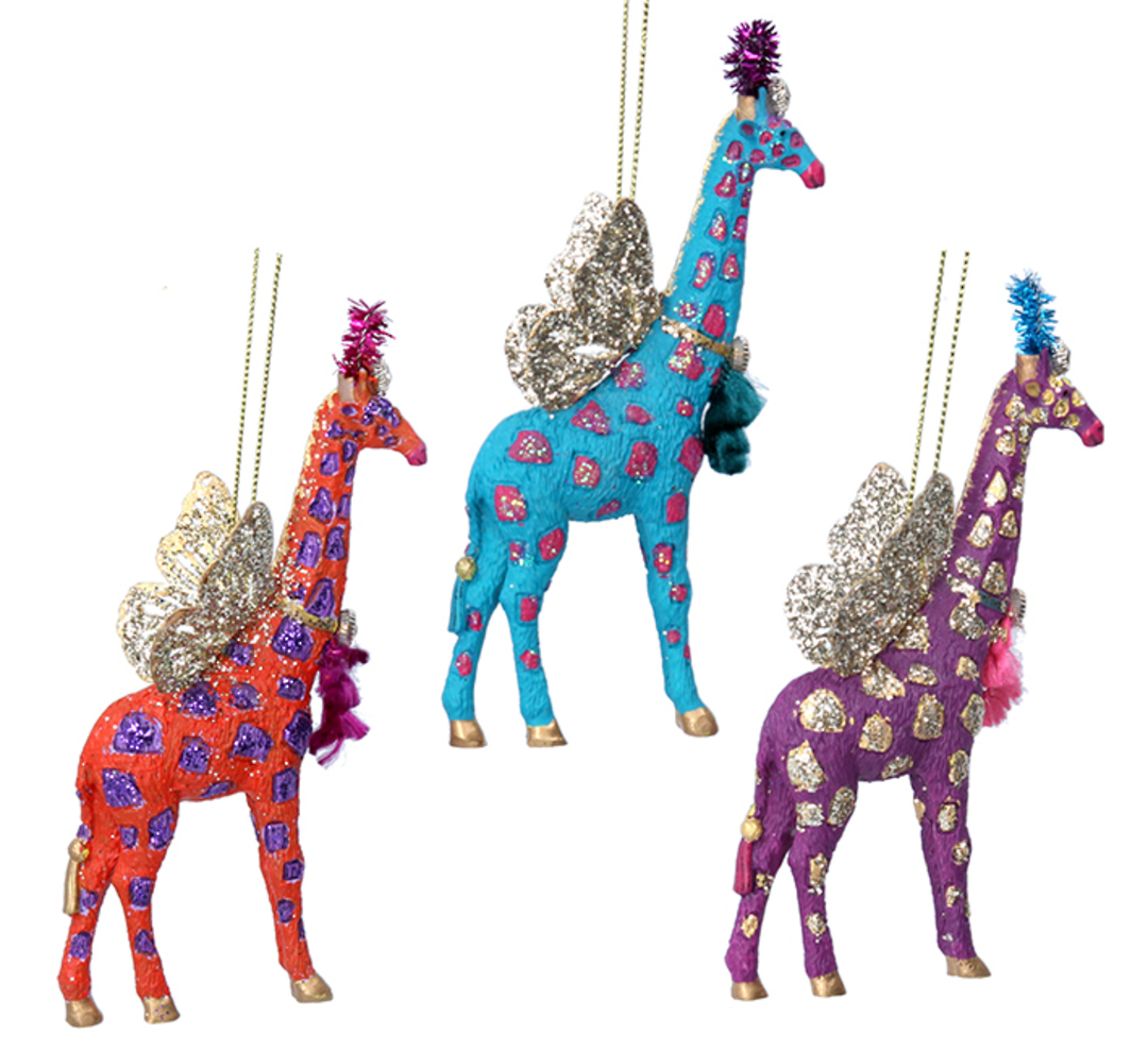Resin Bling Safari Giraffe 13cm image 0