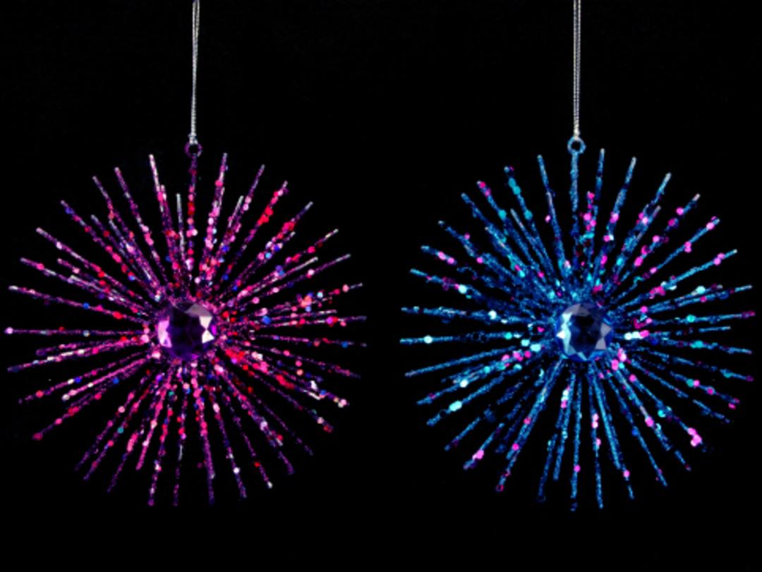 Wire Glitter Fuchsia Starburst image 0