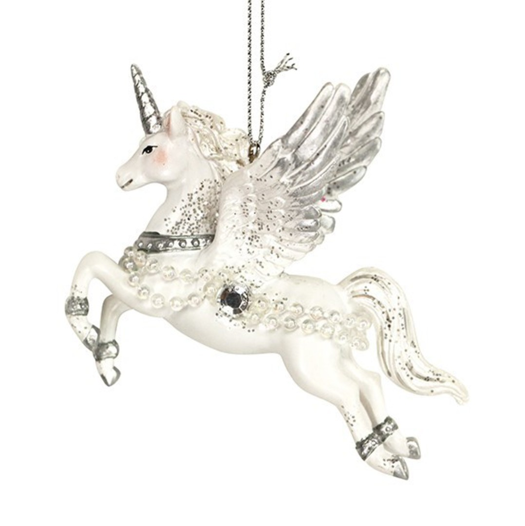 Resin Magical Flying Unicorn 10cm image 0