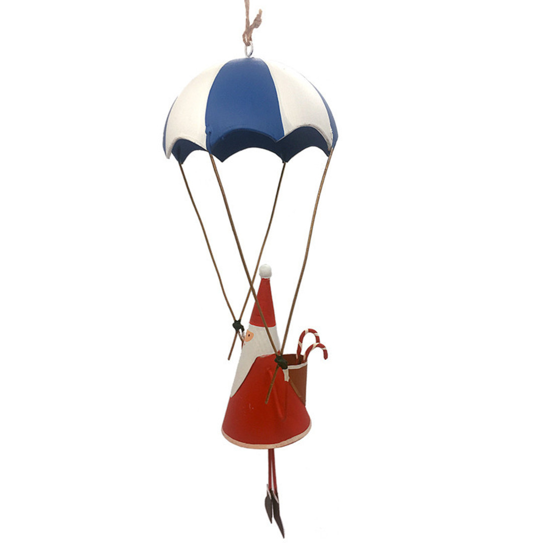 MAXI Tin Santa under Parachute 28cm image 0
