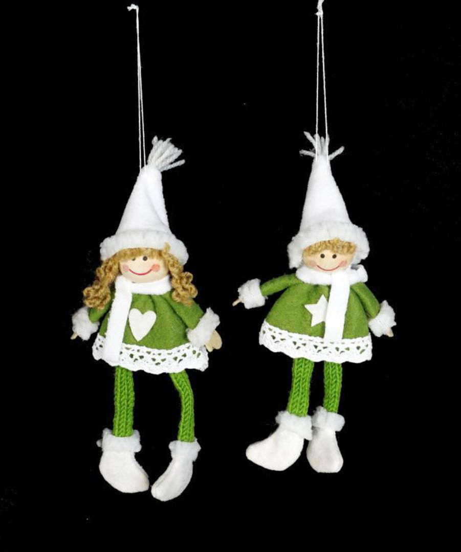 Plush Hanging Green Nordic Child image 0