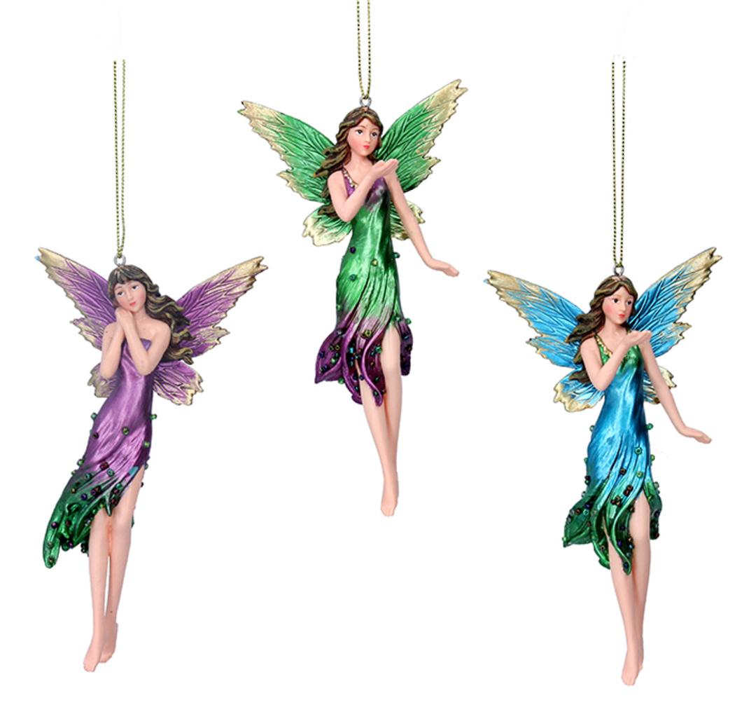 Resin Tall Multi Colour Fairy 17cm image 0