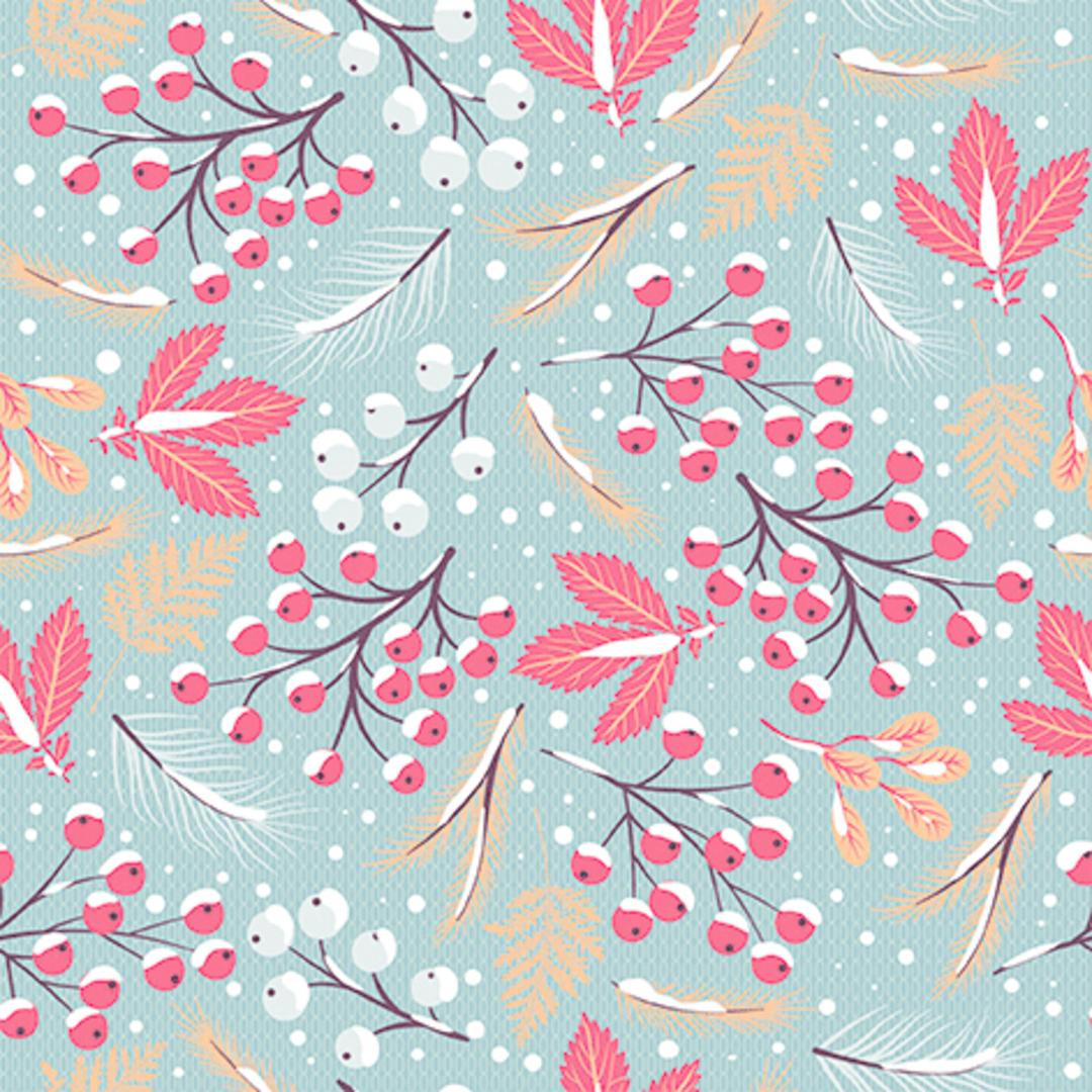 Paper Napkins 33cm, Snow Berries image 0