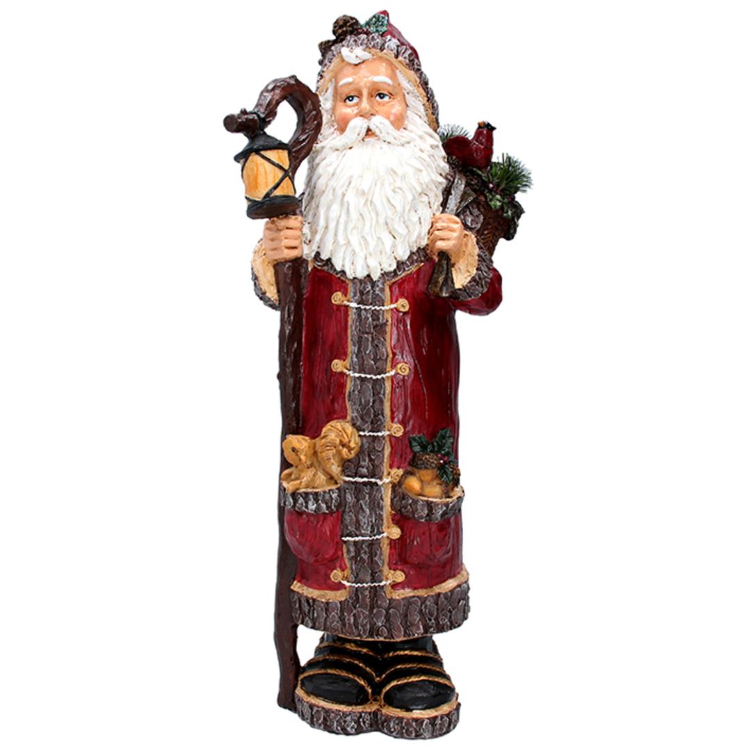 Resin Woodland Santa with Lantern 43cm image 0