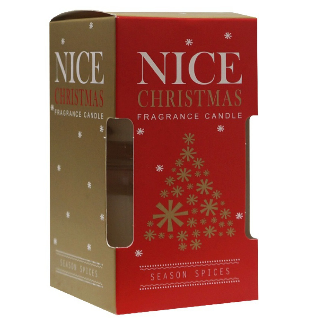 Nice Christmas Scented Candle in Clear Jar, Pair SOLD OUT image 0