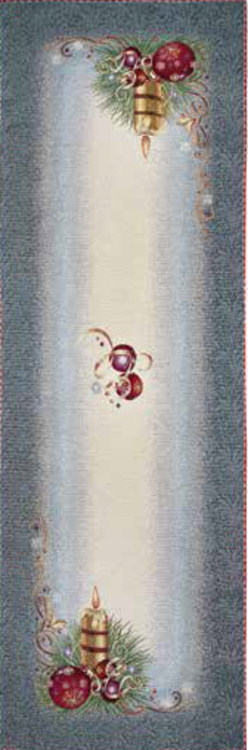 Silver Table Runner 45 x140cm image 0