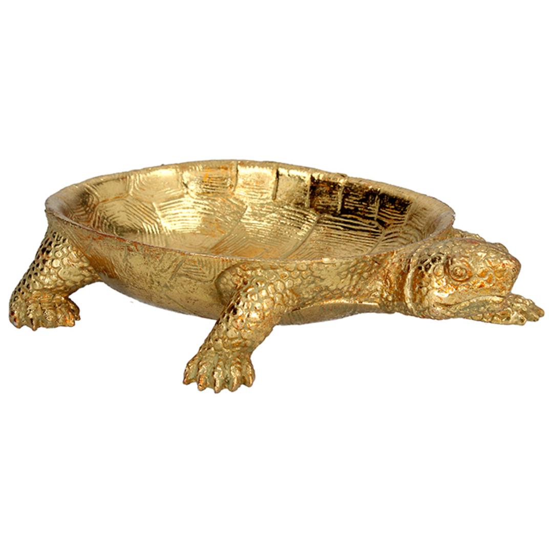Resin Gold Turtle Dish 23cm image 0