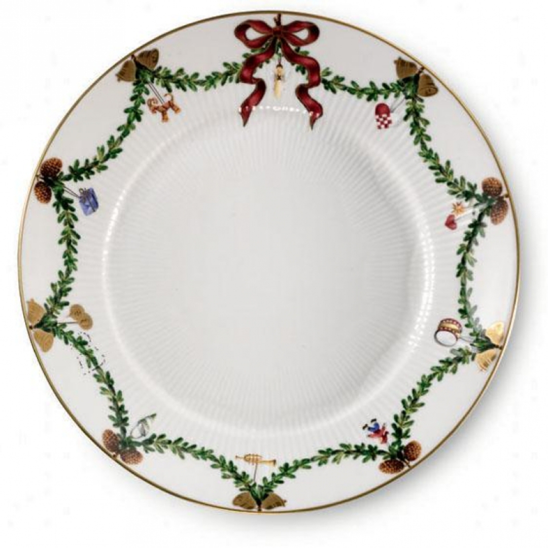 StarFluted Christmas Bread Plate image 0