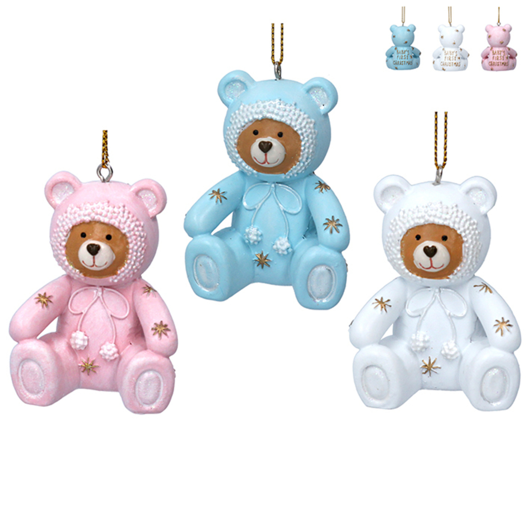 Resin Baby's First Christmas Teddy 6cm image 0
