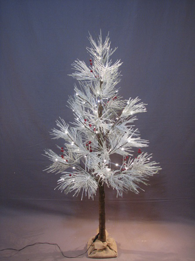 Frosted Long Needle Pine Tree 1.5mtr with 72 LED Lights image 0