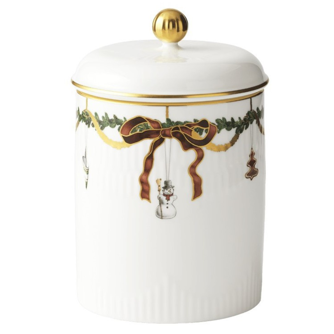 Starfluted Christmas Canister image 0