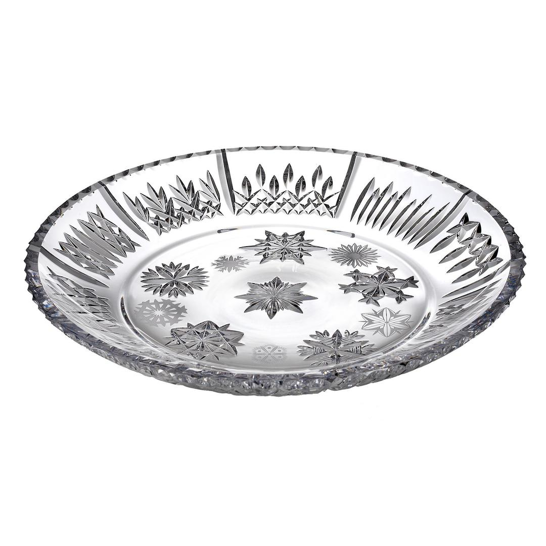 Waterford Snowflake Wishes Platter 34cm w/10 Different Snowflakes image 0
