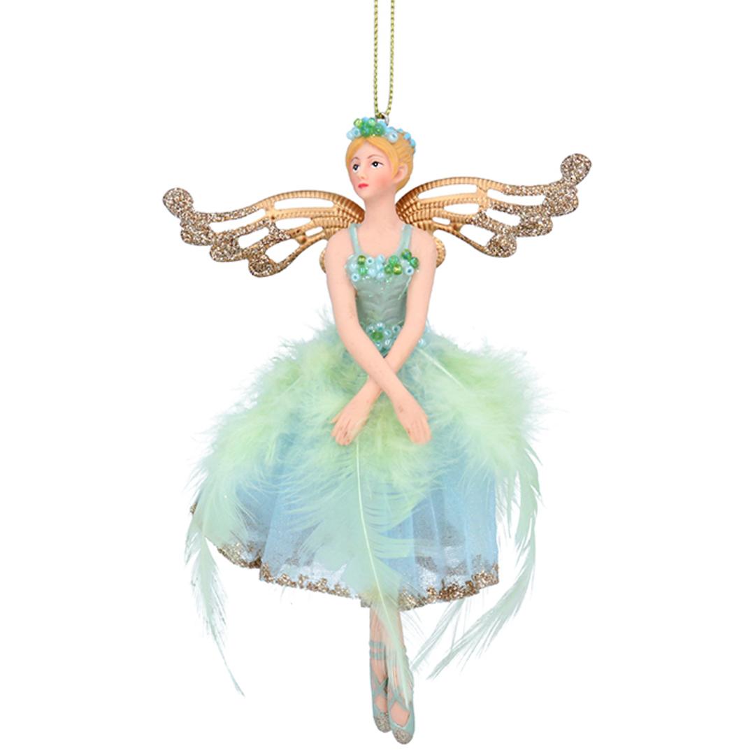 Resin Fabric Paua Fairy 15cm image 0
