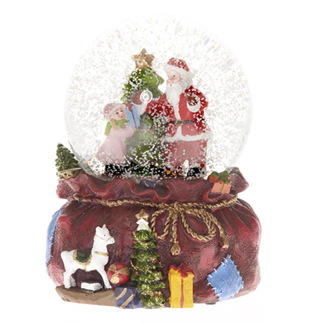 Musical LED SnowGlobe, Santa Sack image 0