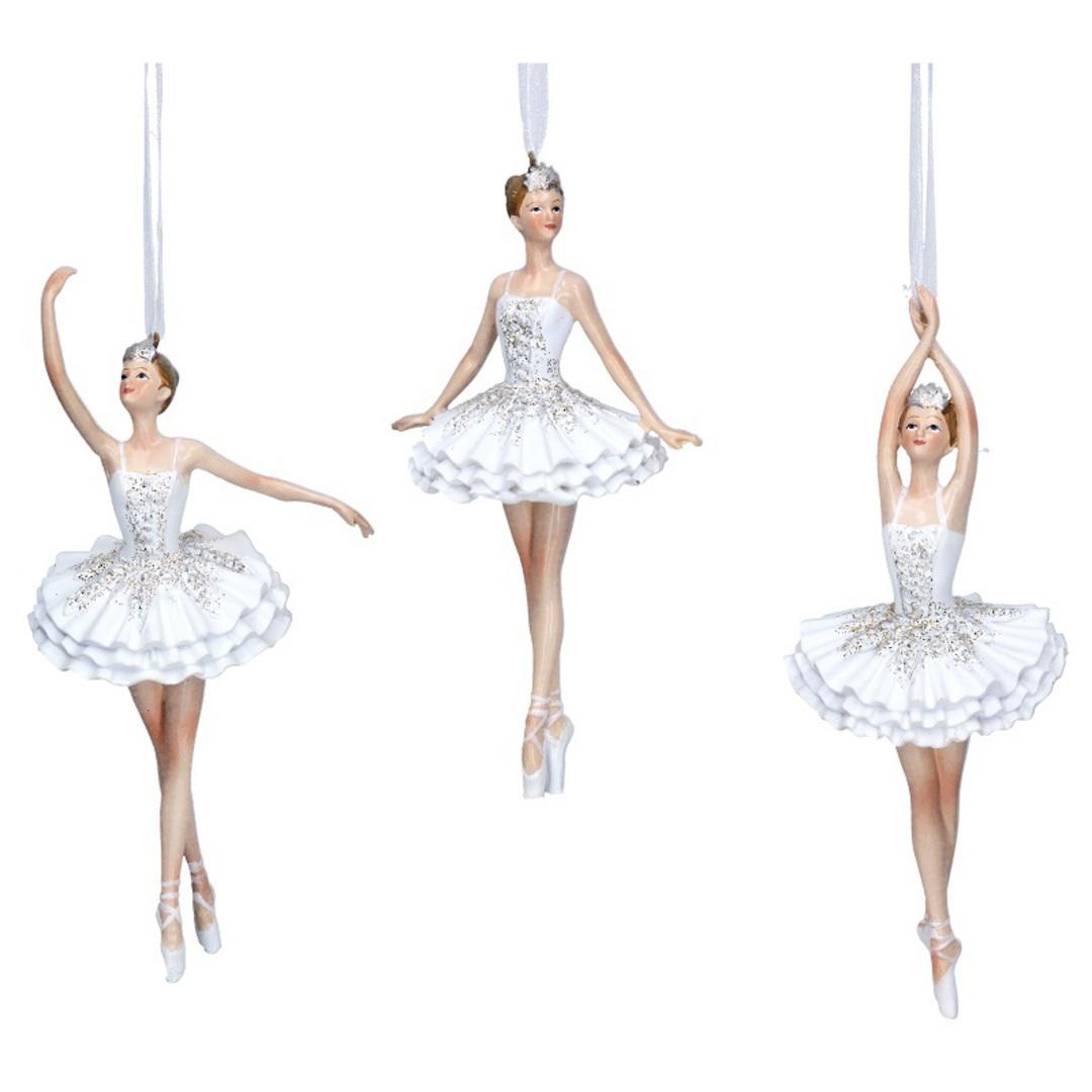 Resin White  Glitter Fairy Ballerina 14cm image 0