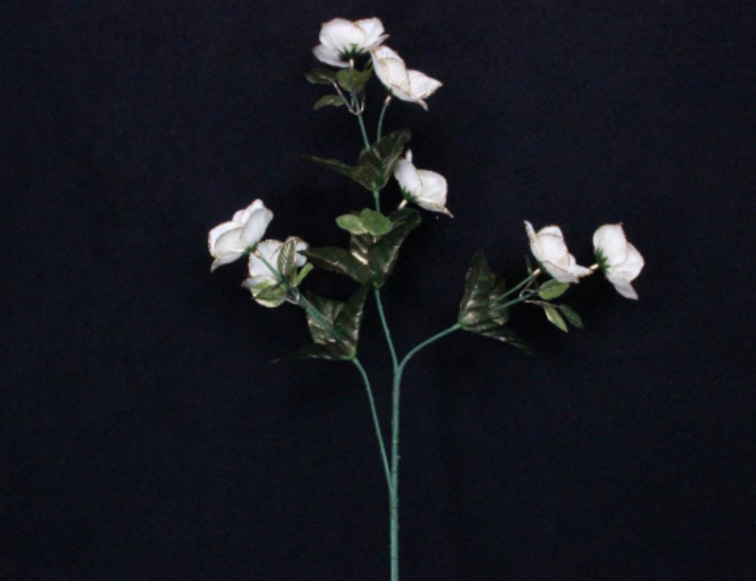 Christmas Rose Cream and Gold Fabric Spray 45cm image 0