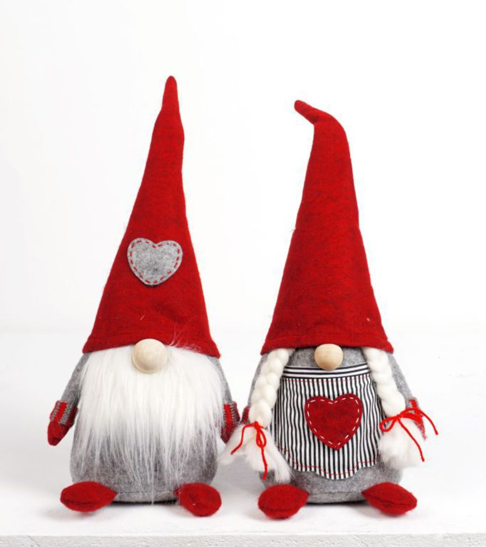 Plush Nordic Mr or Mrs Xmas Gnome Med image 0