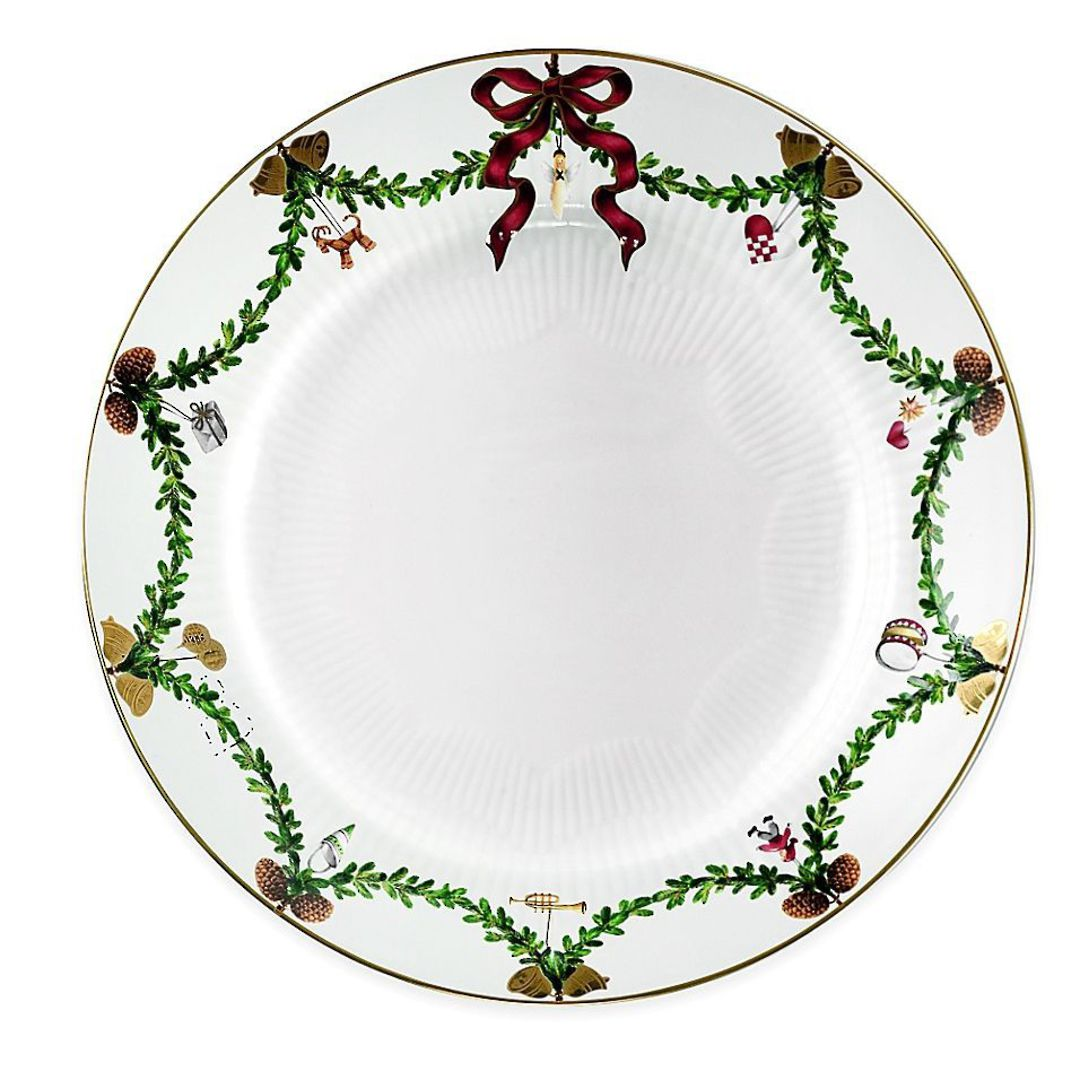 StarFluted Christmas Deep Plate image 0