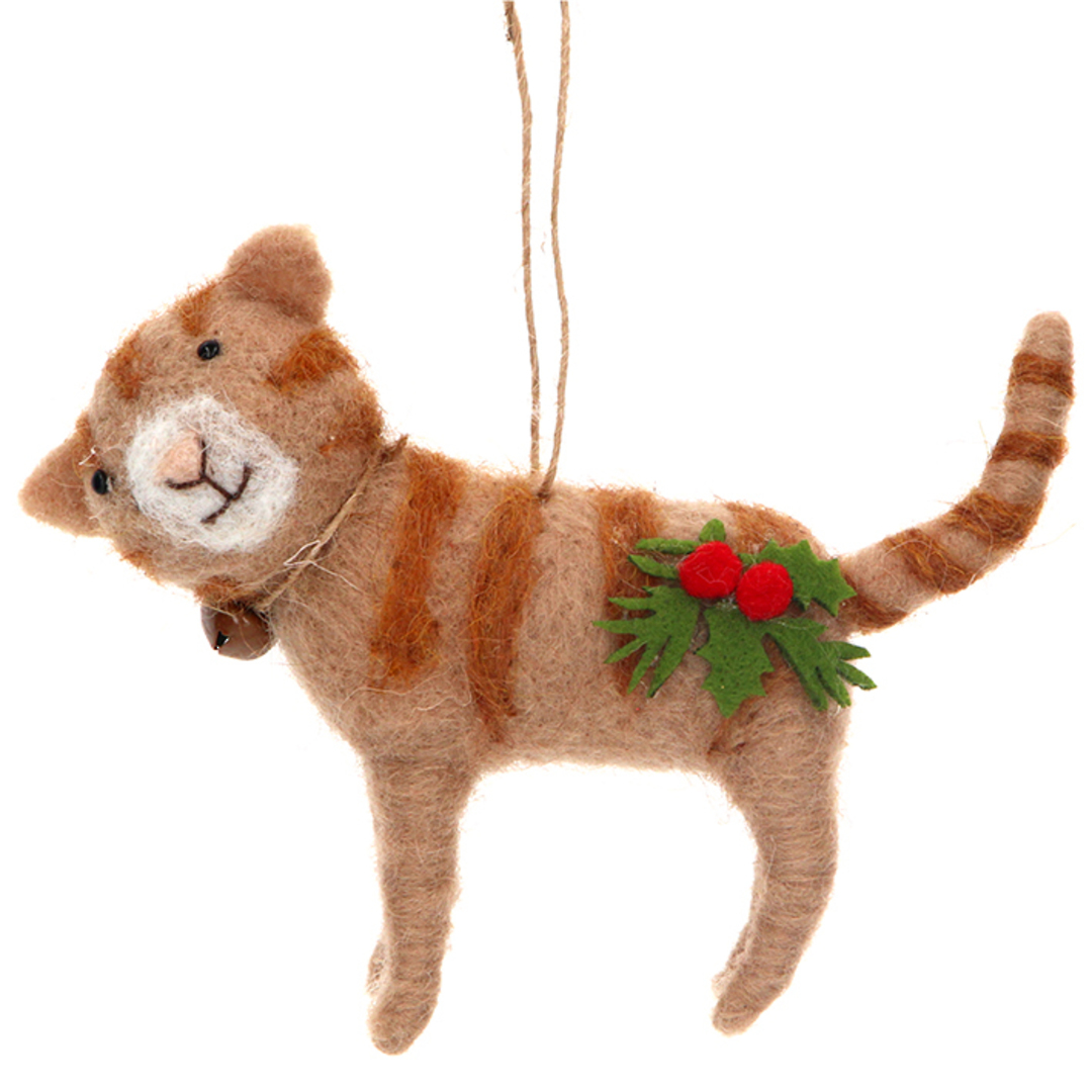 Wool Xmas GingerCat 11cm SOLD OUT image 0