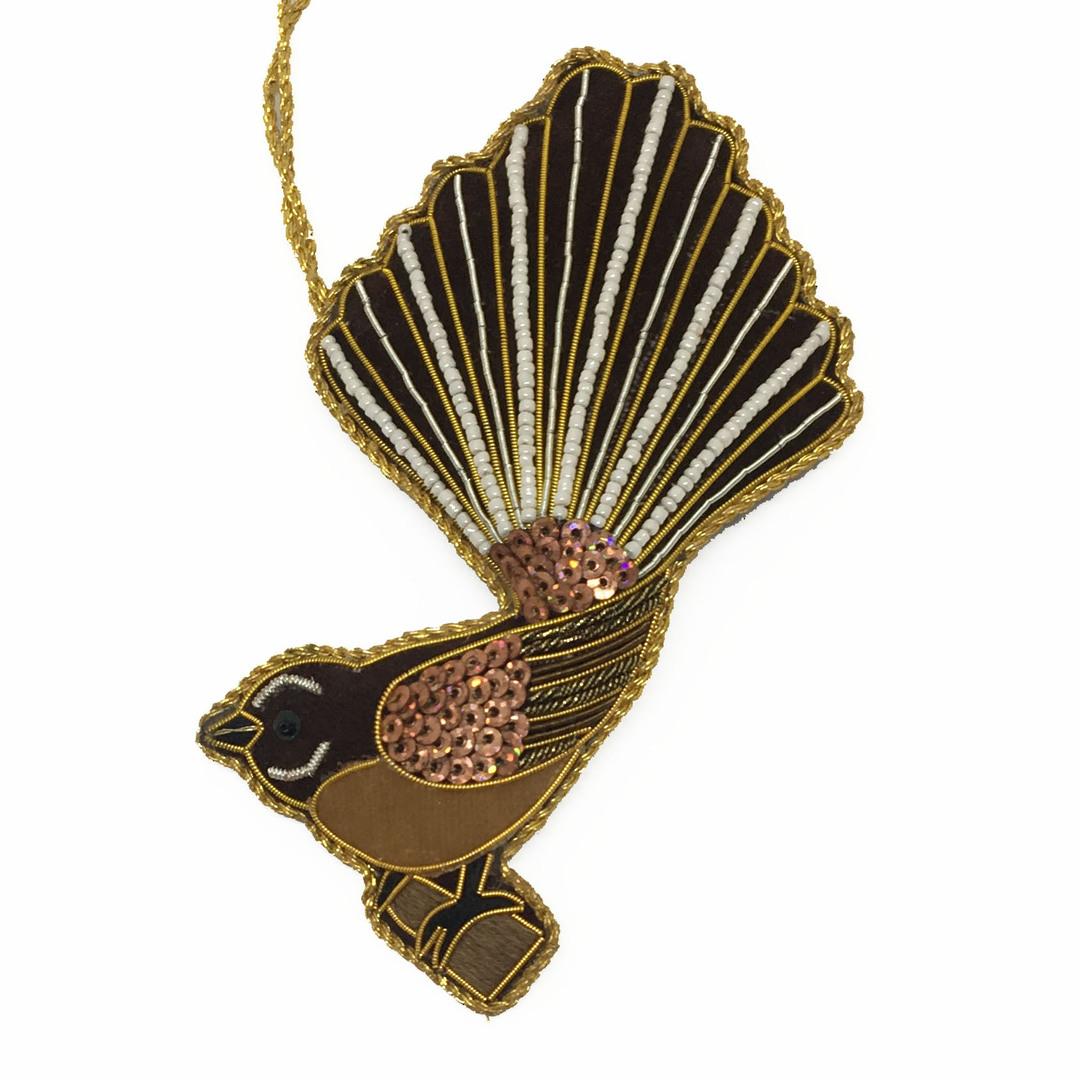 Hanging NZ Bird, Fantail / Piwakawaka image 0
