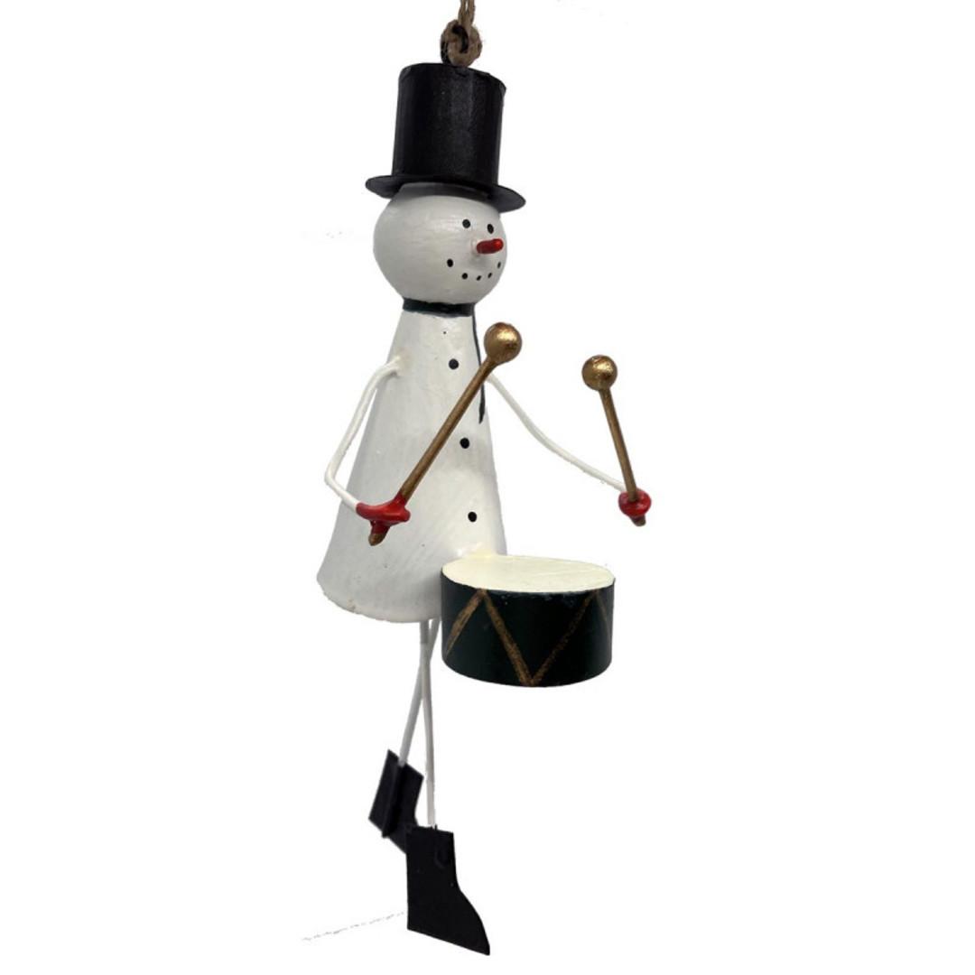 BIG Tin Snowman with Drum 25cm image 0