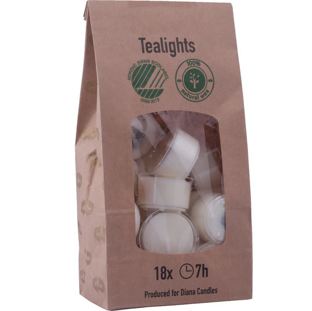 Eco Friendly Tealights. Pack 18 image 0