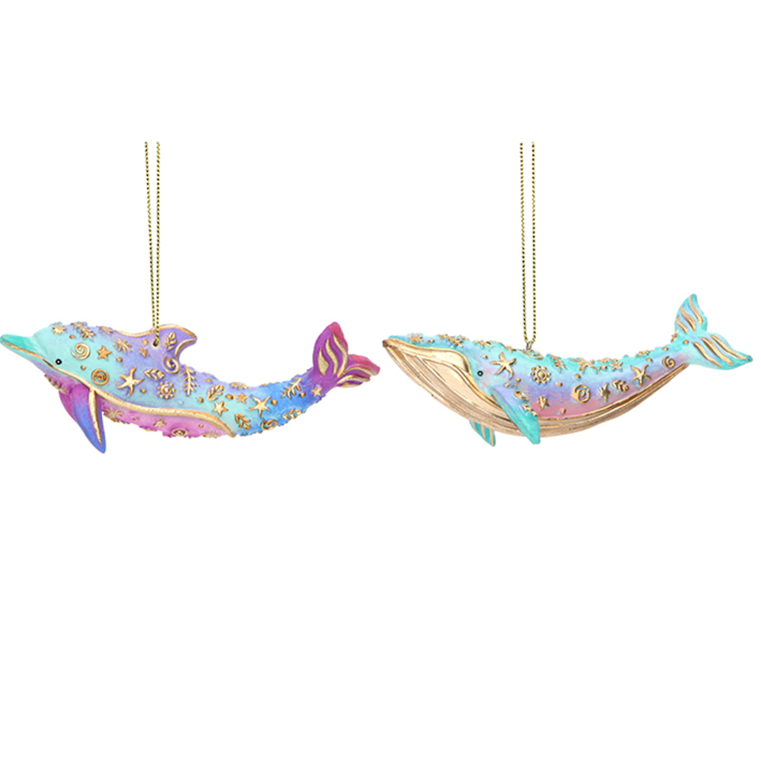 Resin Sea Kingdom Whale or Dolphin 11cm image 0