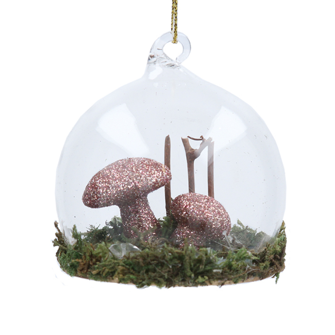 Fabric Gold Toadstool  in Glass Dome 7cm image 0