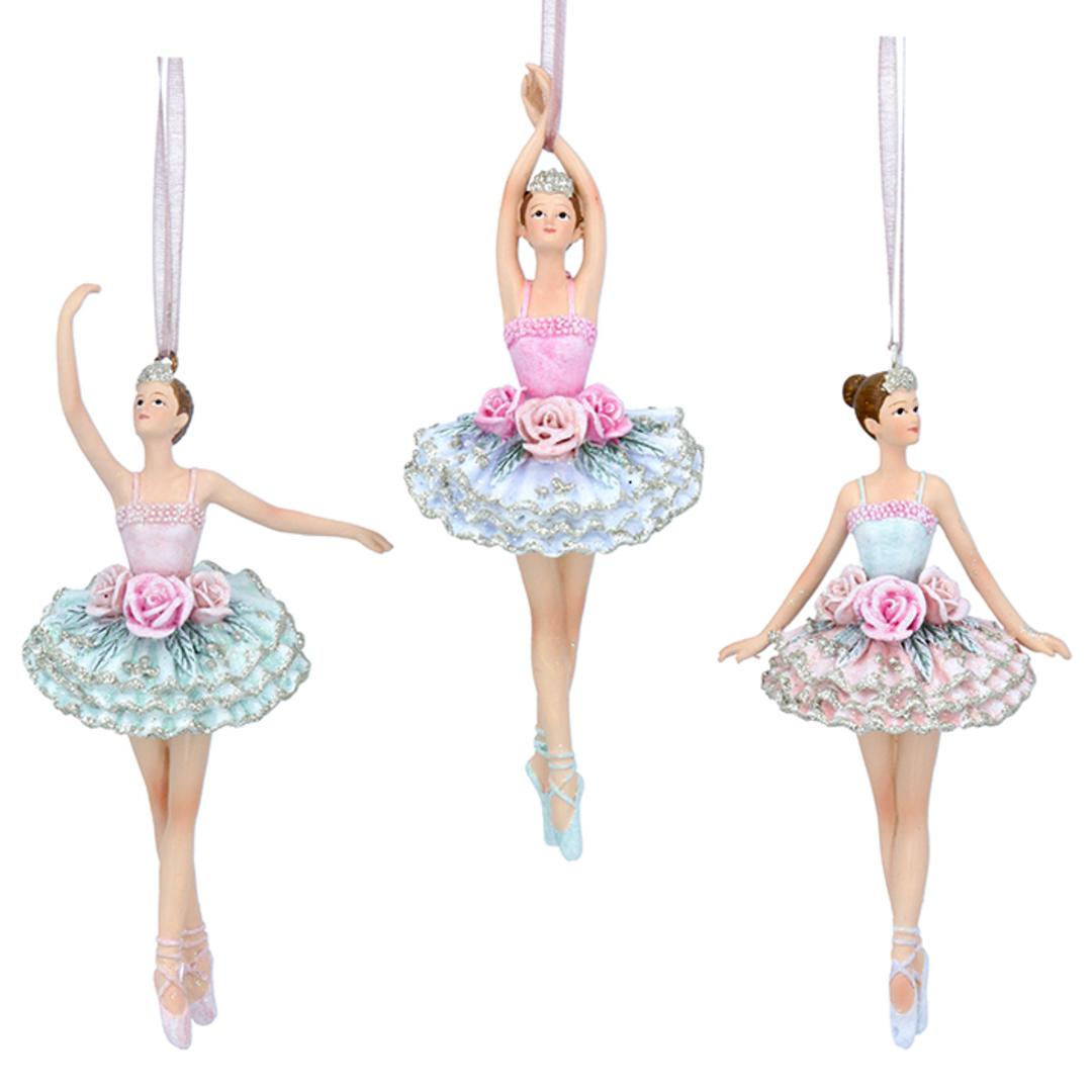 Resin Pastel Flower Ballerina 15cm image 0