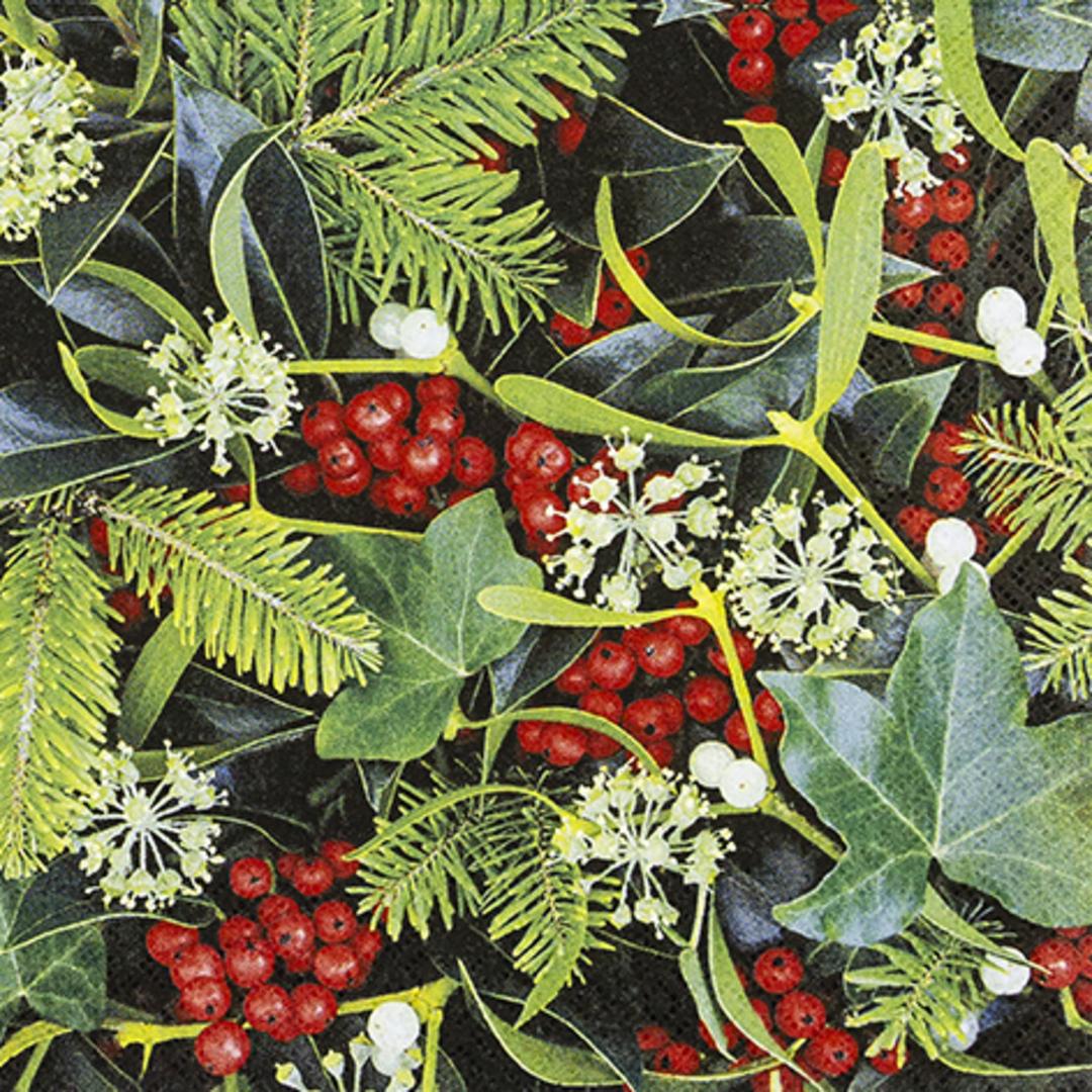 Paper Napkins 33cm, Berries & Plants image 0