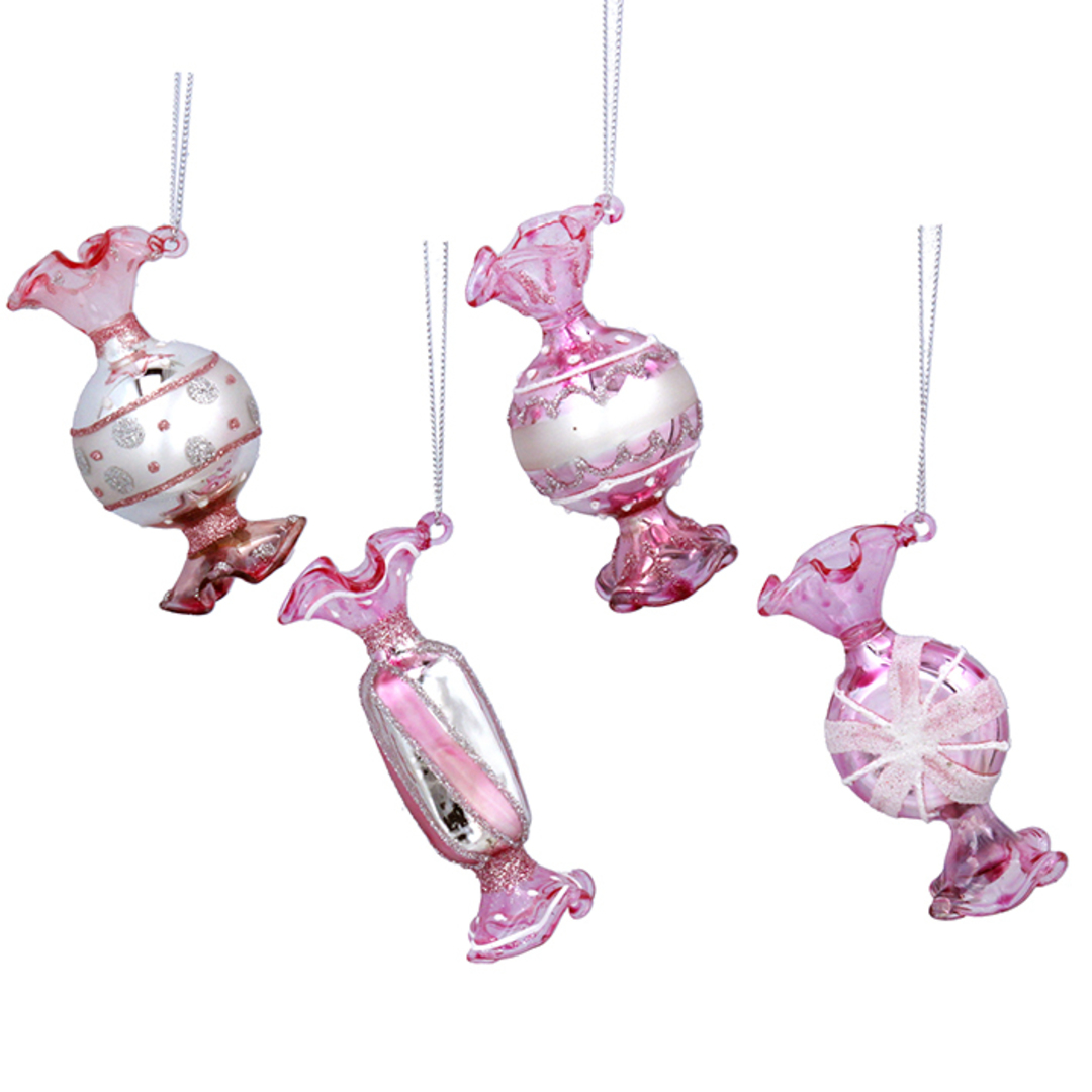 Glass Pink Sweets 8x4cm SOLD OUT image 0