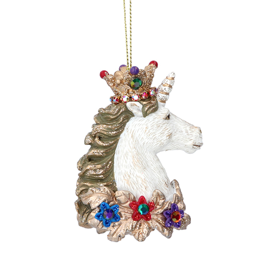 Resin Glorious Unicorn Head 8cm image 0
