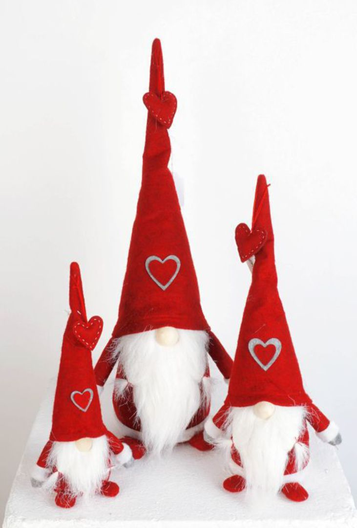 Plush Santa Amore, Red Hat image 0