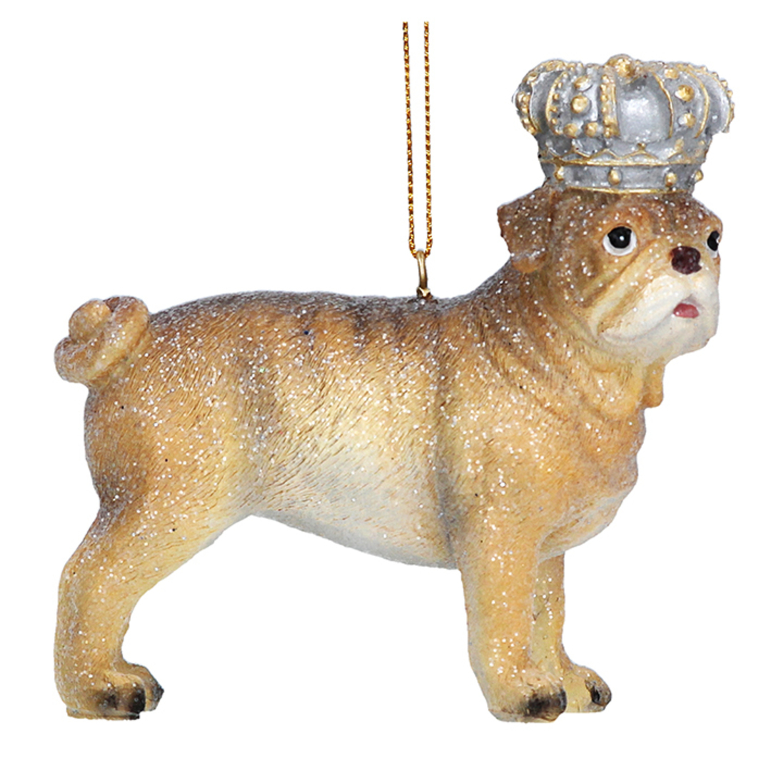 Resin BullDog with Crown 7cm image 0