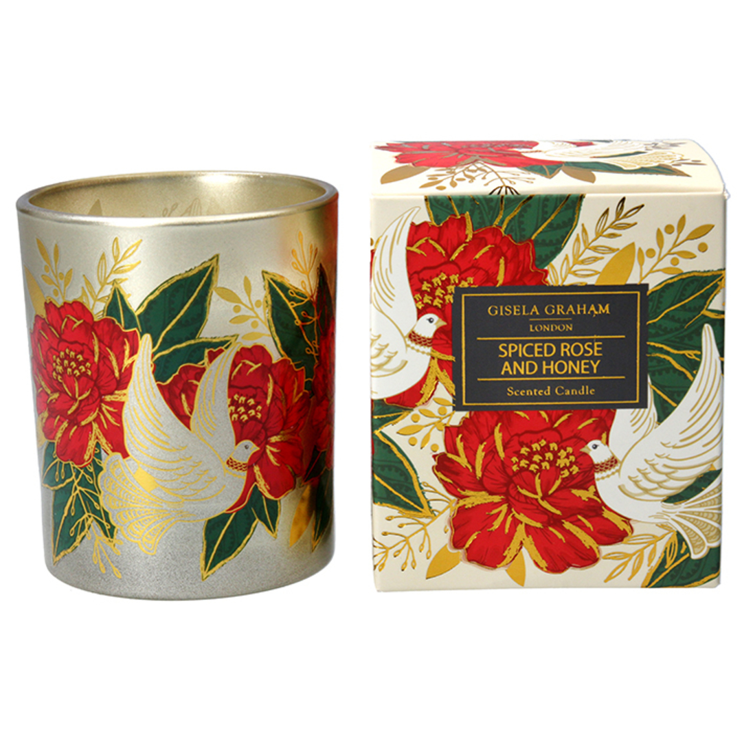 Doves & Roses, Candle Jar 10cm image 0