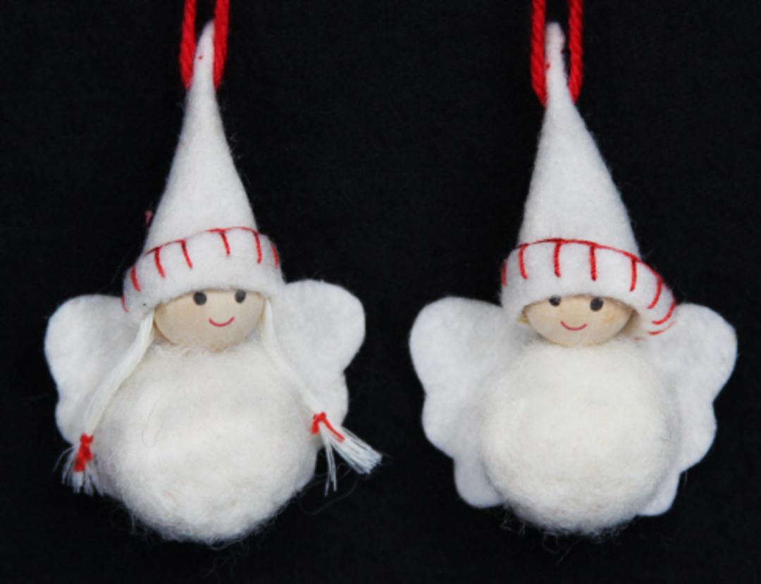 Mini White Wool Angels image 0