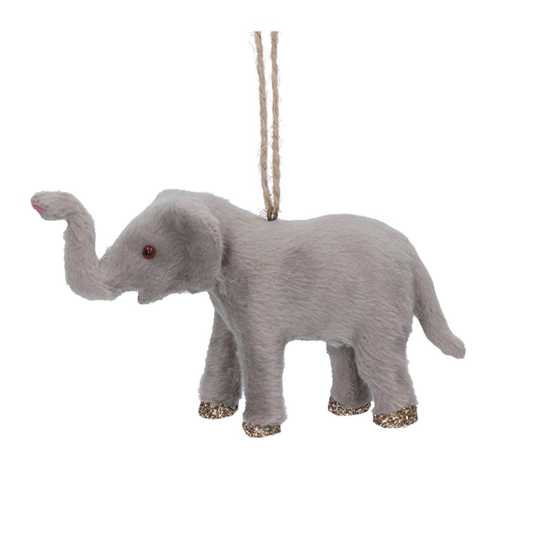 Faux Fur Elephant 12cm image 0